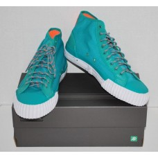 Mens PF Flyers | Center Hi | Ripstop Sneakers |Teal Blue|Size 8