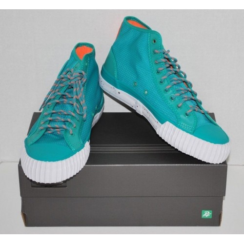 pf flyers center hi ripstop sneakers teal men s size 8