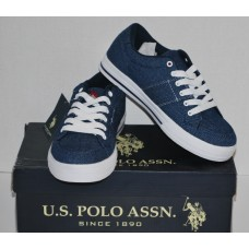 Men's Blue Canvas Sneakers | U.S. Polo Assn. | Navy Denim |NIB | 7M