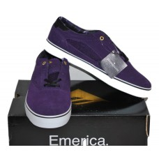 "Men's Skate Shoes ""The Provost"" by Emerica Purple and Gum Color NIB Size 9.5"
