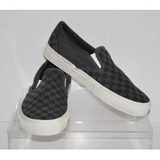 Vans Overwashed Black Checker Slip On Size 11