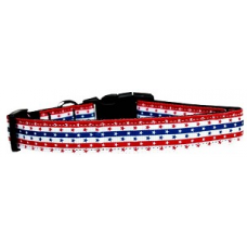 Stars & Stripes Adjustable Nylon Dog Collar