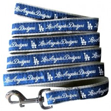LA Dodgers Team Nylon Dog Leash by Pets First Inc. 4 FT