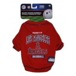 LA Angels Baseball Team Dog Tee Shirt by Pets First (SM)