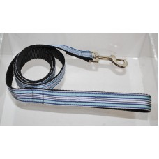 Blue/White Preppy Stripes Nylon Dog or Pet 4' Leash Mirage Pet Products (4 Foot)