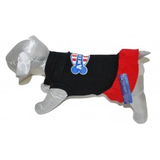 Patriotic Design Dog Dress Black - MED