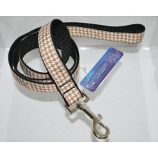 Brown Houndstooth Pattern Dog Leash 4 FT
