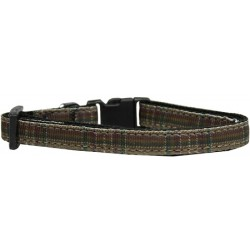 Brown Cat Collar Plaid Pattern Nylon Breakaway