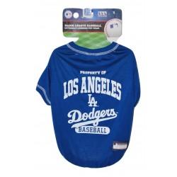 LA Dodgers Baseball Team Dog Tee Shirt by Pets First (MED)
