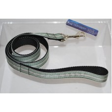 Green and White Preppy Stripes Nylon Dog or Pet 4' Leash Mirage Pet Products