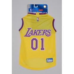 NBA LA Lakers Mesh Dog Basketball Jersey LG
