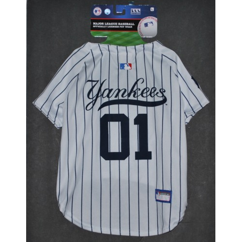 cheap for discount e1afa 7cce0 NY Yankees Baseball Dog Jersey by Pets First. - LG