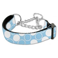 Martingale Dog Collar Baby Blue Polka Dots (LG)