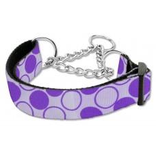 Martingale Purple Dog Collar Polka Dots (LG)