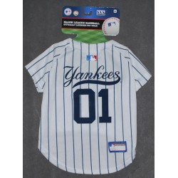NY Yankees Dog Jersey by Pets First. - MED