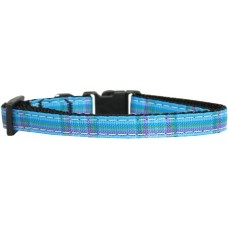 Blue Cat Collar Plaid Pattern Nylon Breakaway