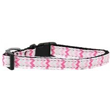 Pink Cat Collar Chevron Pattern Nylon Breakaway