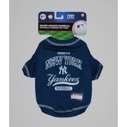 NY Yankees Baseball Team Dog Tee Shirt by Pets First (SM)