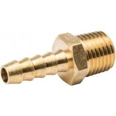 """B&K 1/4"""" ID x 1/4"""" MIP Adapter Fitting Brass Hose Barb"""