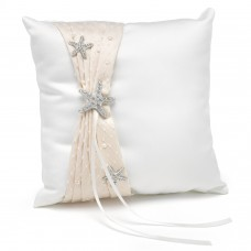 Destination romance - Ivory Ring Bearer's Pillow