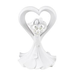 Love's Embrace White Cake Top