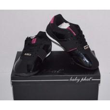 Black Fuschia Women's Designer Sneakers Baby Phat 6.5 M