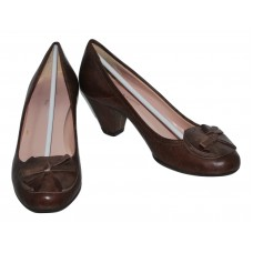 Cantini & Cantini Dallas Italian Brown Leather Pump European Size 36.5