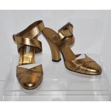 Charles David 5262 Patisse Antique Bronze Snake High Heel Pumps Size 7