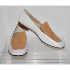 Elizabeth And James E CASSI White Leather Flats Womens Size 8
