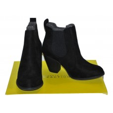 Kenneth Cole Black Suede Ankle Boot 6M