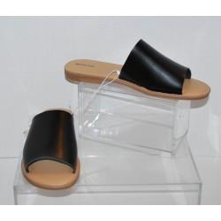 Merona - Women's Mardi Black Slide Sandals Size 10