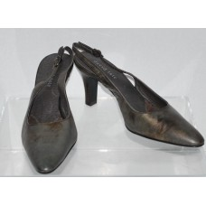 David Tate Starglow Slingback Pump Antique Pewter Size 7 Pointed Toe