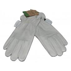 Women's Full-Grain Leather Gardening Gloves, Beige - Smith & Hawken