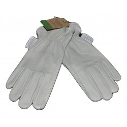 Women's Full-Grain Leather Gardening Gloves, Beige - Smith & Hawken