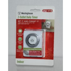 Westinghouse 2 Outlet Mechanical Daily Indoor Timer
