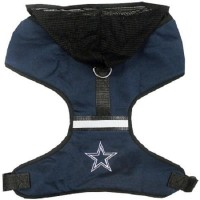 Dallas Cowboys Adjustable Reflective Dog Harness with Mesh Hoodie