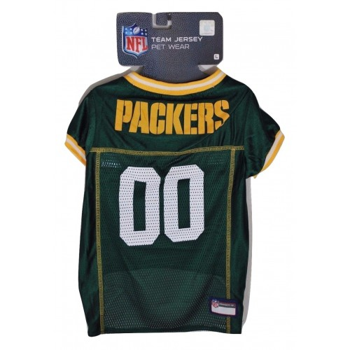 finest selection de7ae e0b63 Green Bay Packers NFL Team Jersey for Dogs