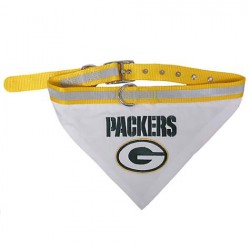 Green Bay Packers Dog Bandana Collar Reflective & Adjustable (Choose Size)