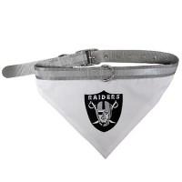Raiders Dog Bandana Collar Reflective & Adjustable (Choose Size)