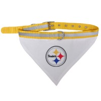 Pittsburgh Steelers Dog Bandana Collar Reflective & Adjustable (Choose Size)