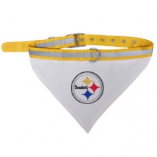 Pittsburgh Steelers Dog Bandana Collar Reflective & Adjustable (Choose Size)