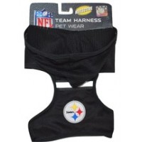 Pittsburgh Steelers Adjustable Reflective Dog Harness with Mesh Hoodie