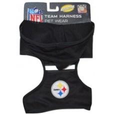 Pittsburgh Steelers Adjustable Reflective Dog Harness with Mesh Hoodie
